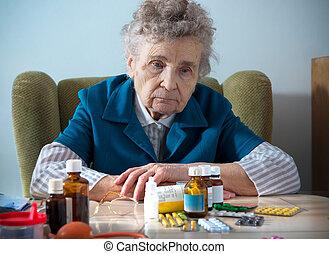 orvosság, idősebb ember