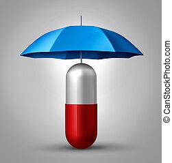 orvosság, oltalom
