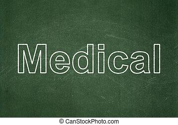orvosság, orvosi, concept:, chalkboard, háttér