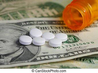 orvosság, pénz, &