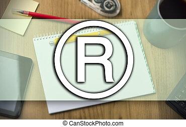 oryginał, znak, -, handlowe pojęcie, z, tekst