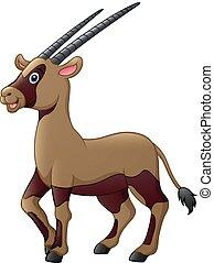oryx, lindo, caricatura
