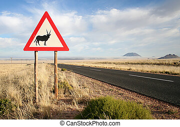 Oryx road sign