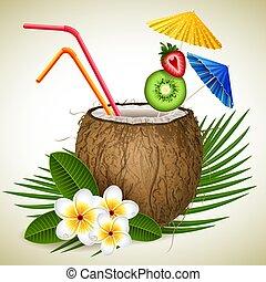 orzech kokosowy, cocktail