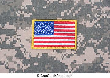 os hær, begreb, på, camouflage, jævn