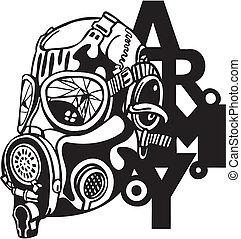 os hær, militær, konstruktion, -, vektor, illustration.