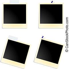 os, vector, polaroid, ilustración