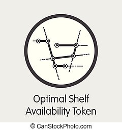 OSA - Optimal Shelf Availability Token - The Coin Icon. -...