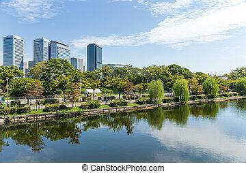 Osaka business district