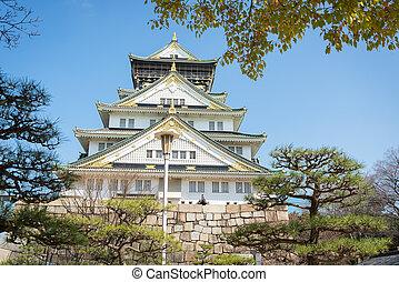 osaka castle in Matsumoto, Japan