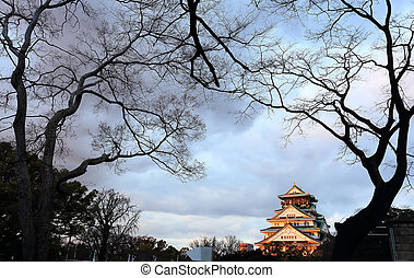 Osaka Castle in Osaka, Japan(winter season)