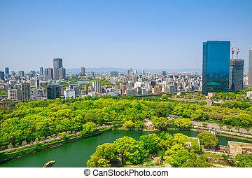 Osaka Castle skyline