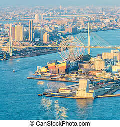 Osaka city skyline