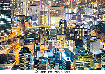 Osaka downtown at night
