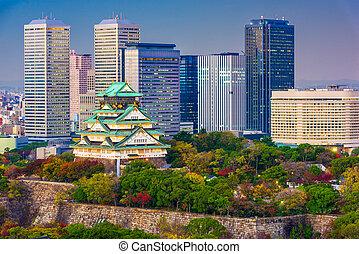 Osaka, Japan Castle Skyline