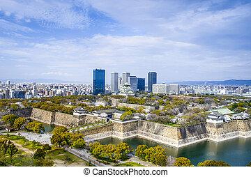 Osaka, Japan City Skyline