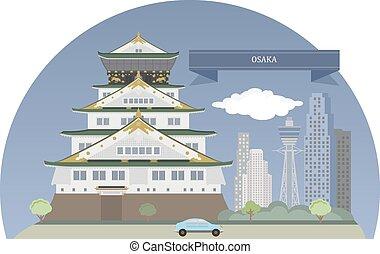 Osaka, Japan. Designated city in the Kansai region of Japan