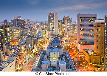 Osaka, Japan downtown