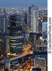 Osaka Japan Skyline - Osaka Japan city skyline and downtown ...