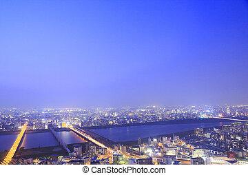 Osaka Skyline at night
