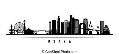 Osaka skyline horizontal banner.