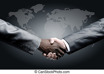 osamocený, povolání, handshake
