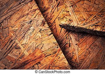 osb, hout, oud, paneel