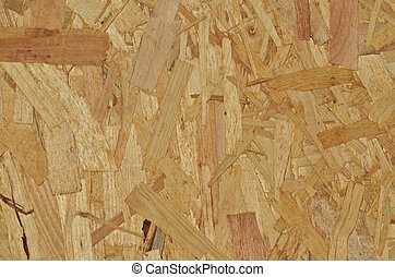 Oriented strand board panel as background texture
