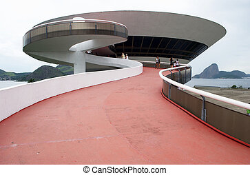 Oscar Niemeyer's Niteroi Contemporary Art Museum and Sugar...