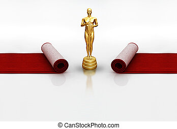 Oscar on red carpet
