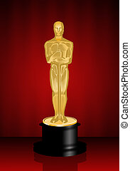 Oscars statuette - illustration of Oscars award