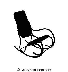 oscillante, vettore, sedia, illustrazione