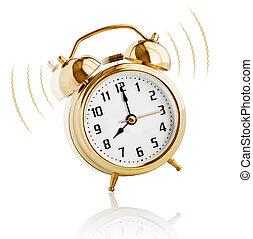 oscillazione transitoria, orologio, allarme, punto, mattina, 8