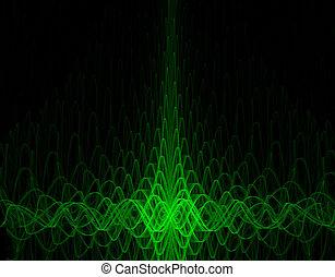 oscillograph background - green oscillograph background -...