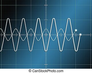 Oscilloscope - electrical signals displayed on the screen of...