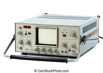 Oscilloscope, isolated on a white background