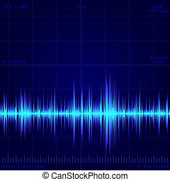 wave signal - oscilloscope screen showing wave signal