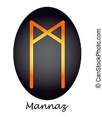 oscuridad, amarillo, mannaz, runa, adivinación del futuro,...