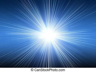 Oscuridad, azul,  explosión