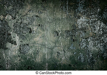 oscuridad, concreto, pintado, viejo, cuadro de pared