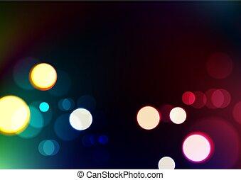 oscuridad, confuso, luces, plano de fondo, resumen, colores...