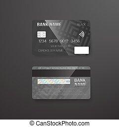 oscuridad, credito, vector, plano de fondo, photorealistic, tarjeta