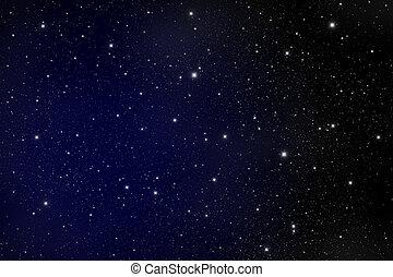 oscuridad, estrella, galaxia