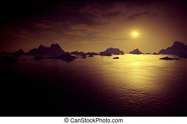 oscuridad, fantasía, paisaje