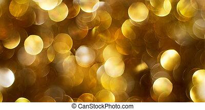 oscuridad, fondo dorado, luces