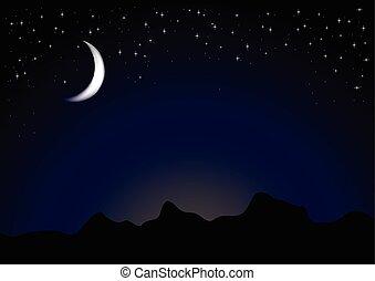 oscuridad, luz de la luna, noche, plano de fondo