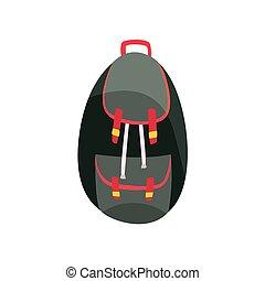 oscuridad, mochila, vector, colores, ilustración