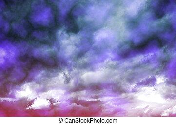 oscuridad, nubes de la tormenta