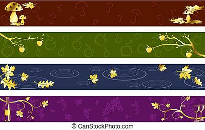 oscuridad, otoño, colores, banderas