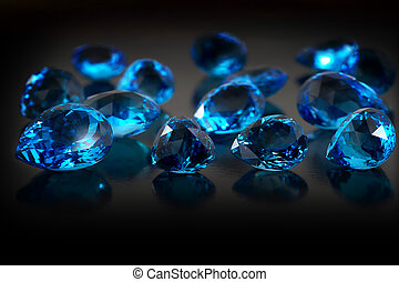 Oscuridad, Plano de fondo, grupo, piedras preciosas, topacio